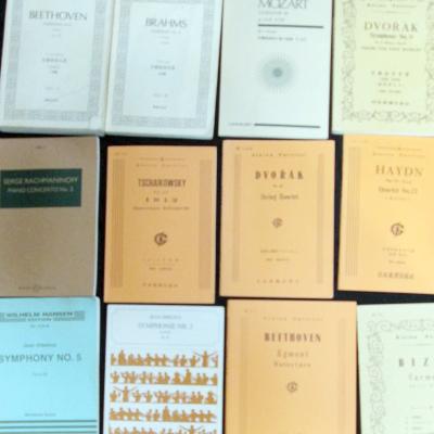 秋田県よりショパン、グリーグなどピアノの楽譜。中田喜直歌曲集を買取りしました。