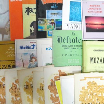 茨城県より全音ピアノピース、洋書などの楽譜、クラシック、アニメ、童謡などのCDを買取しました